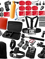 Gopro Accessories 50 in 1 kit Case Monopod Float Bobber Chest strap For Go pro 4 3+ 2 Camera Accessories xiaomi yi