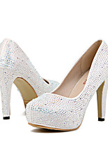 Women's Shoes Silk Stiletto Heel Heels / Closed Toe Heels Wedding / Office & Career / Party & Evening / Dress White