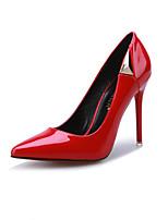 Chaussures Femme-Habillé-Noir / Rose / Rouge-Talon Aiguille-Talons / Bout Pointu / Bout Fermé-Talons-Similicuir