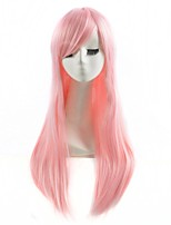Pink Color Cosplay Synthetic Wigs Cheap Straight Wigs For Black Women Fashion Wigs