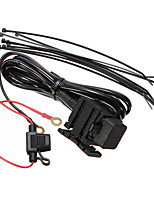 Motorcycle USB Power System Charger Cable 12V 5V Travel Provided Power