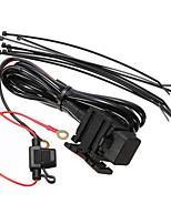 alimentación que se suministra USB motocicleta 12v cable del cargador del sistema de alimentación 5v viajes