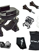 360 Degree Rotating Bike Clamp Mount Kit For All Gopro Hero Camera/SJCAM/Xiaoyi-Black[A]
