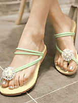 Women's Shoes Heel Flip Flops Sandals Outdoor / Dress / Casual Black / Green / Pink / White