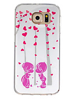 For Samsung Galaxy Case Pattern Case Back Cover Case Heart TPU Samsung S7 / S6 edge / S6