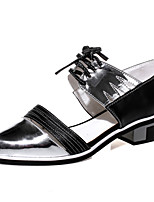 Women's Shoes Cowhide Low Heel Pointed Toe Flats Casual Silver / Gold