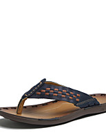 Men's Shoes Outdoor / Casual Nappa Leather Sandals Blue / Brown / Orange