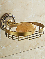 Brown Soap Dish , Traditional Antique Copper Wall Mounted