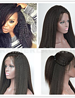 2016 Premier Hot 8A Indian Remy Human Hair Soft Kinky Straight Lace Front or Full Lace Wigs  For Black Women t