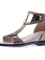 Women's Shoes Nappa Leather Flat Heel Gladiator / Comfort / Novelty / Open Toe Sandals / Flats Outdoor / Dress / Casual