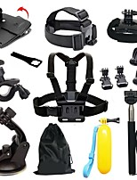 Gopro Accessories 16 in 1 Monopod Tripod Float Bobber Chest Belt Set For Gopro Hero 4 3+ sj4000 sjcam Xiaomi yi