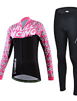 CHEJI Women Bicycle Cycling Sportwear Long Sleeve Clothing Suit Jersey + Trousers