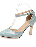 Women's Shoes  Stiletto Heel D'Orsay & Two-Piece / Pointed Toe Heels Office & Career / Dress / Casual Blue / White