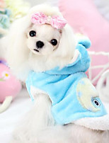 Hunde Mäntel Blau / Rosa / Gelb Winter Modisch