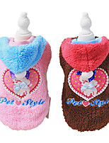 Dog Coat Brown / Pink Winter Fashion