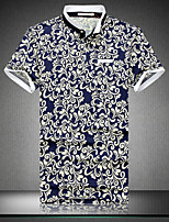 Men's Casual Slim Floral Polos , Cotton / Polyester Casual / Plus Sizes Print