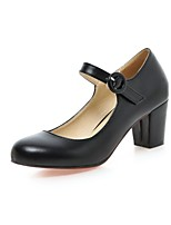 Women's Shoes Leatherette Chunky Heel Heels Heels Office & Career / Party