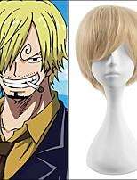 courts perruques synthétiques blonds de style cosplay couleur droites de qualité supérieure