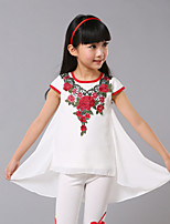 Girl's Red Dress,Jacquard Polyester Summer