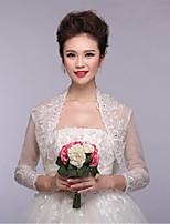 Wedding / Party/Evening Lace / Tulle Shrugs 3/4-Length Sleeve Wedding  Wraps