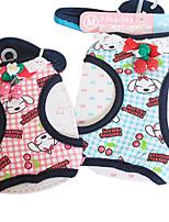 Perros Collar / Correas Ajustable/Retractable / Escocés / de Cuadros Verde / Rosado Textil