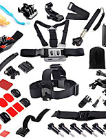 Gopro Hero Accessories 38 in 1 Set Helmet Harness Chest Belt Mount Strap Monopod Go pro hero3 4 3+ Sj4000 xiaomi yi