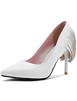 Women's Shoes Stiletto Heel Heels / Pointed Toe Heels Office & Career / Party & Evening / Dress Black / Red / White