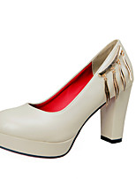 Women's Heels Spring / Fall / Winter Heels / Platform / Basic Pump / Comfort / Round Toe Leather /Office & Career /