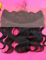 sloev pelo 7a cabello humano frontal del cordón indio 13x4 cierre con la parte libre de la onda del cuerpo virgen frontal del cordón del