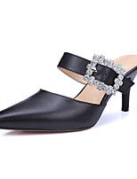 Women's Shoes Leather Stiletto Heel Heels / Slingback / Pointed Toe Sandals Party & Evening / Dress / (Genuine leather)
