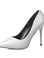 Damenschuhe-High Heels-Kleid-Kunstleder-Stöckelabsatz-Absätze / Spitzschuh / Geschlossene Zehe-Schwarz / Rosa / Grau