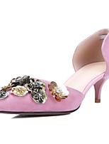 Chaussures Femme-Bureau & Travail / Soirée & Evénement-Rose-Talon Aiguille-Bout Pointu-Talons-Daim