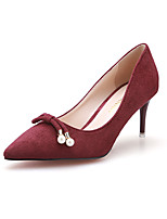 Women's Shoes Suede Stiletto Heel Heels / Pointed Toe / Closed Toe Heels Dress / Casual More Colors Available