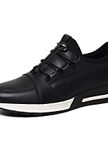 Men's Shoes Outdoor/Office & Career/Party & Evening /Athletic / Dress / Casual Nappa Leather Fashion Sneakers Black