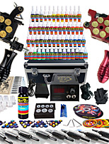 Solong Tattoo® Complete Tattoo Kit 2 Pro Machine Guns 54 Inks Power Supply Foot Pedal Needles Grips Tips TK253
