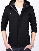 Men's spring young Hooded Jacket thin code slim coat Student Korean leisure short men tide