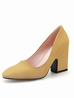 Women's Shoes Suede Chunky Heel Heels / Square Toe / Closed Toe Heels Dress / Casual More Colors Available