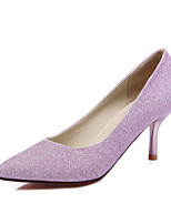 Scarpe Donna - Scarpe col tacco - Formale / Serata e festa - Tacchi / A punta - A stiletto - Finta pelle - Blu / Viola / Argento