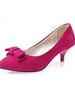 Calçados Femininos-Saltos-Saltos-Salto Agulha-Azul / Vermelho / Bege / Laranja-Courino-Ar-Livre / Escritório & Trabalho / Festas & Noite