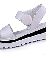 Women's Shoes Leatherette Flat Heel Platform Sandals Casual Black / White