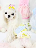 Cães Casacos Azul / Rosa / Amarelo Verão Fashion