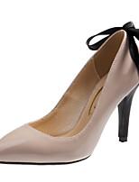 Chaussures Femme-Mariage / Habillé / Soirée & Evénement-Marron / Blanc-Talon Aiguille-Talons / Bout Pointu-Talons-Cuir