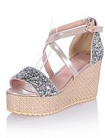Zapatos de mujer-Tacón Cuña-Cuñas / Plataforma / Creepers-Sandalias-Vestido / Casual / Fiesta y Noche-Materiales Personalizados-Azul /