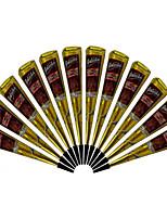 12X India Henna Cone Reddish Brown Color Temporary Tattoo Body Art Kit Mehandi Ink 25G