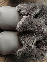 Women's Shoes  Flat Heel Comfort / Round Toe Slippers Casual Gray / Beige