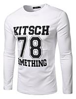 Polyester / Nylon-Effen-Heren-T-shirt-Informeel / Werk / Formeel / Sport / Grote maten-Korte mouw