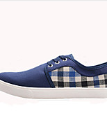 Men's Shoes Outdoor Canvas Fashion Sneakers Black / Blue