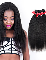 EVET Unprocessed Brazilian 100% Real Virgin Human Hair Weave Kinky Straight Extensions 3 Bundles