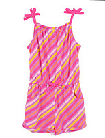 Girl's Red Dress,Stripes Cotton Summer