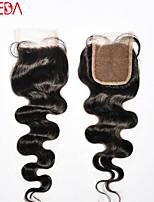 5x5 laço do cabelo humano clousure onda do corpo brasileiro do cabelo virgem três fechamento duas partes livre com cabelo do bebê para as